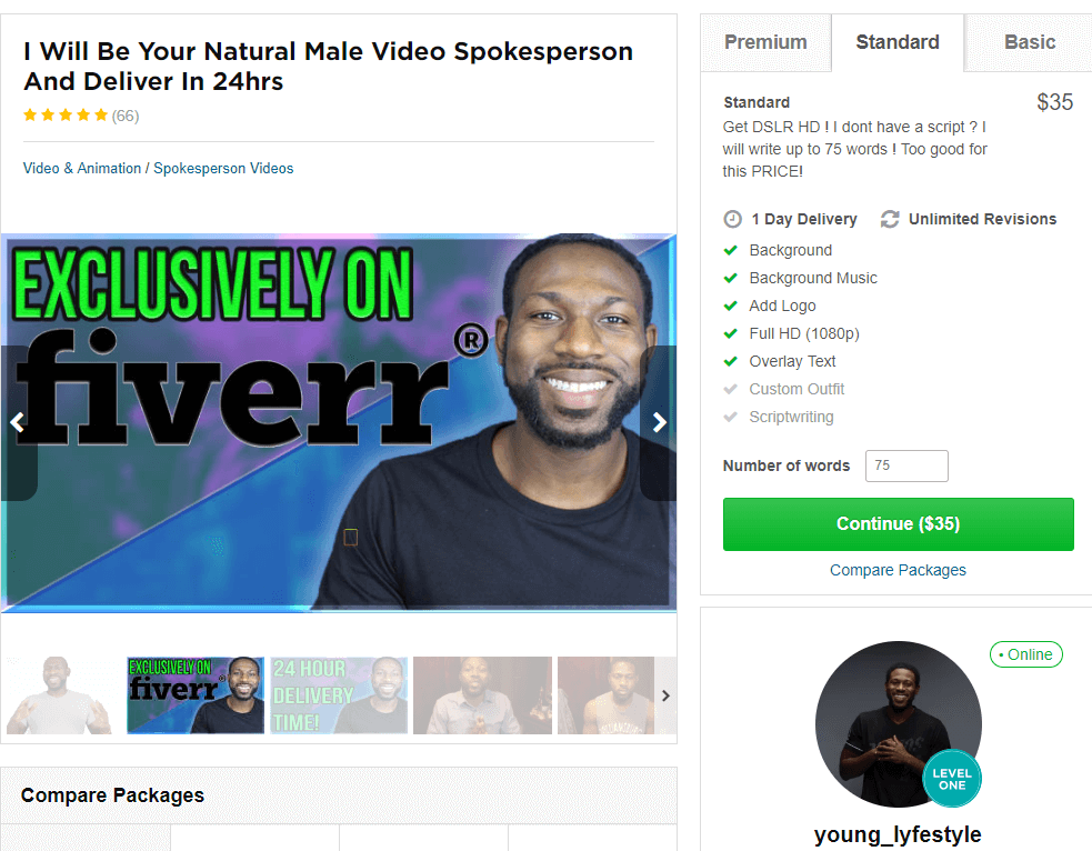 video spokesperson Young lyfestyle