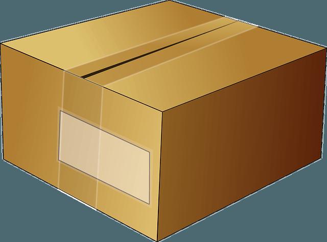 Brown empty box