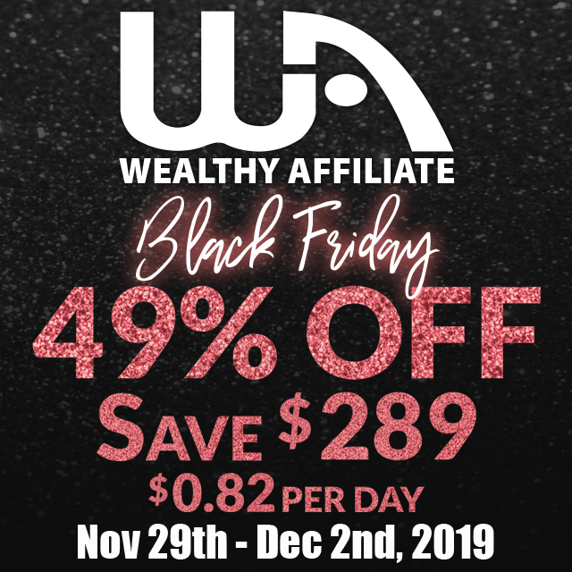 Black Friday Wealthy Affiliate