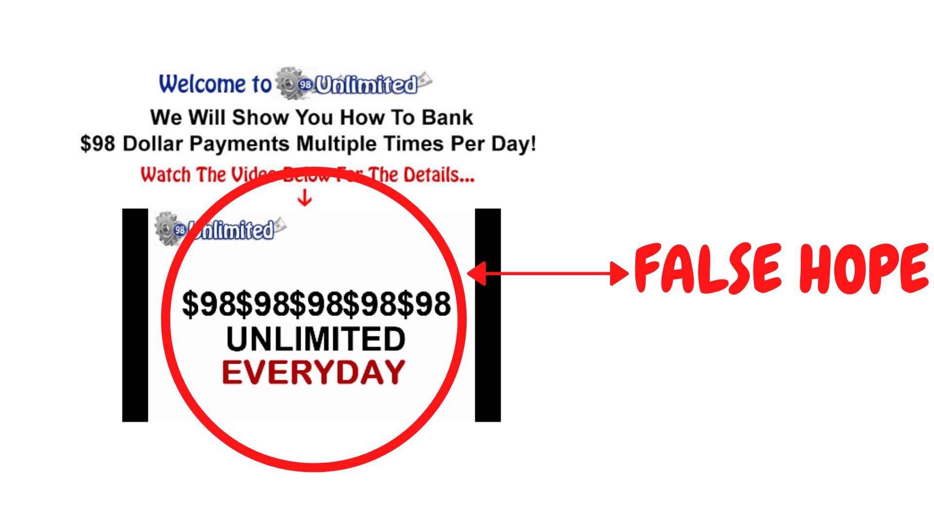 98 Unlimited False Hope