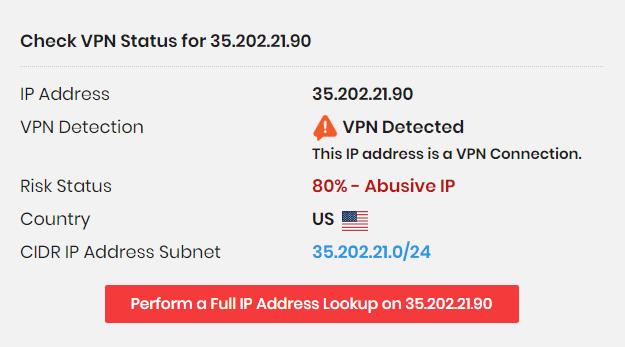 Infinity Processing System VPN