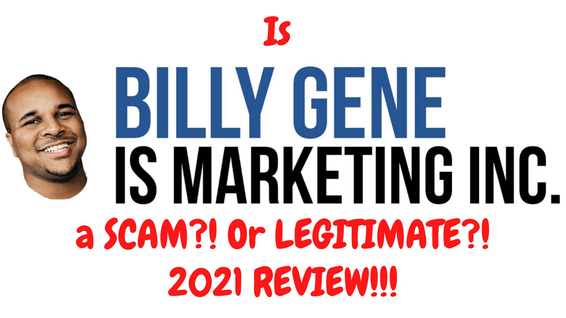Billy Gene is Marketing FRONTPAGE