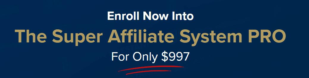 Super Affiliate System Pro Pricing