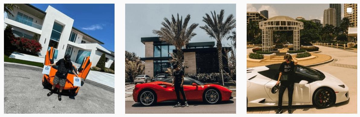 YT Money luxury cars