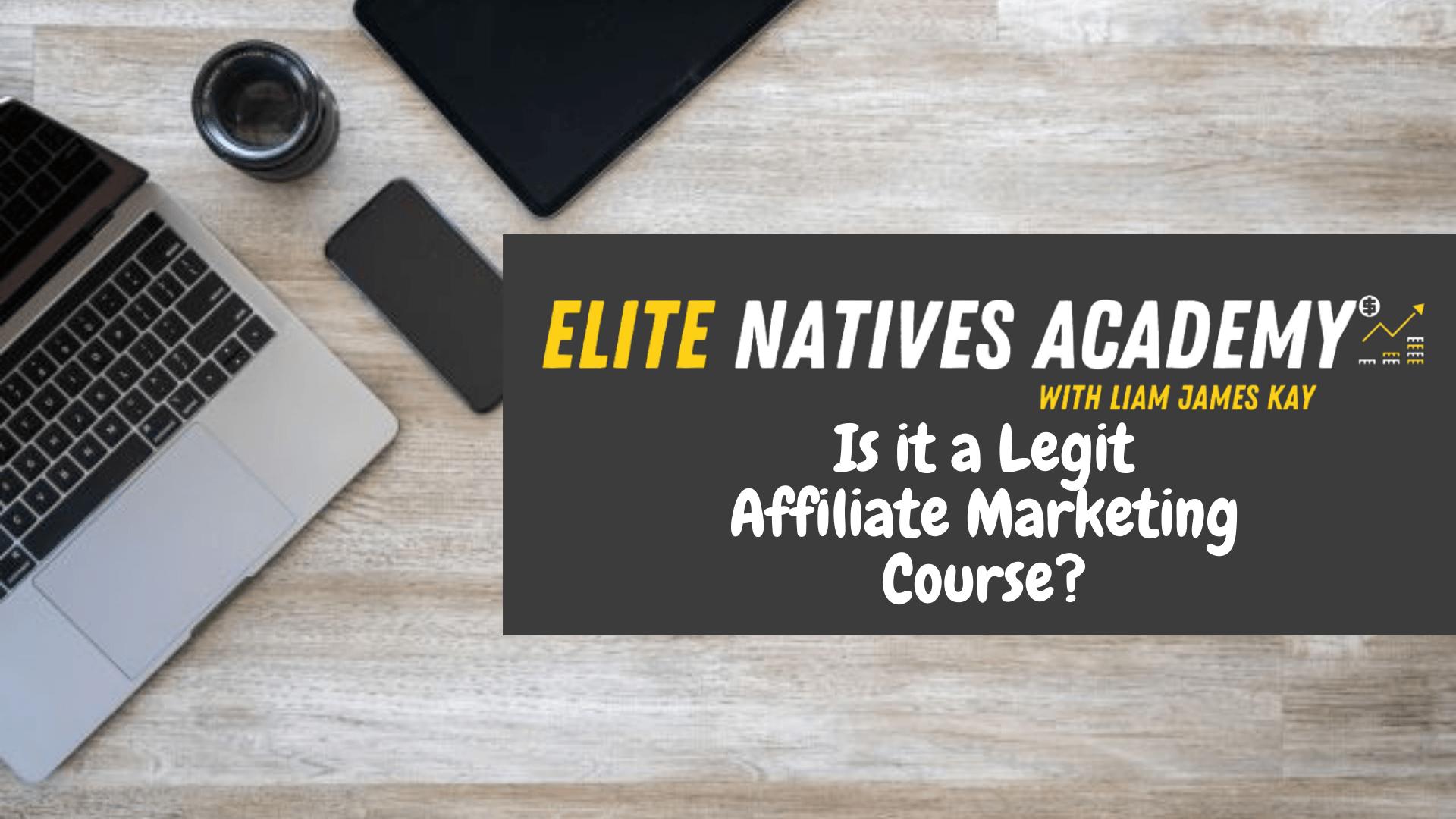 Elite Native Academy Frontpage