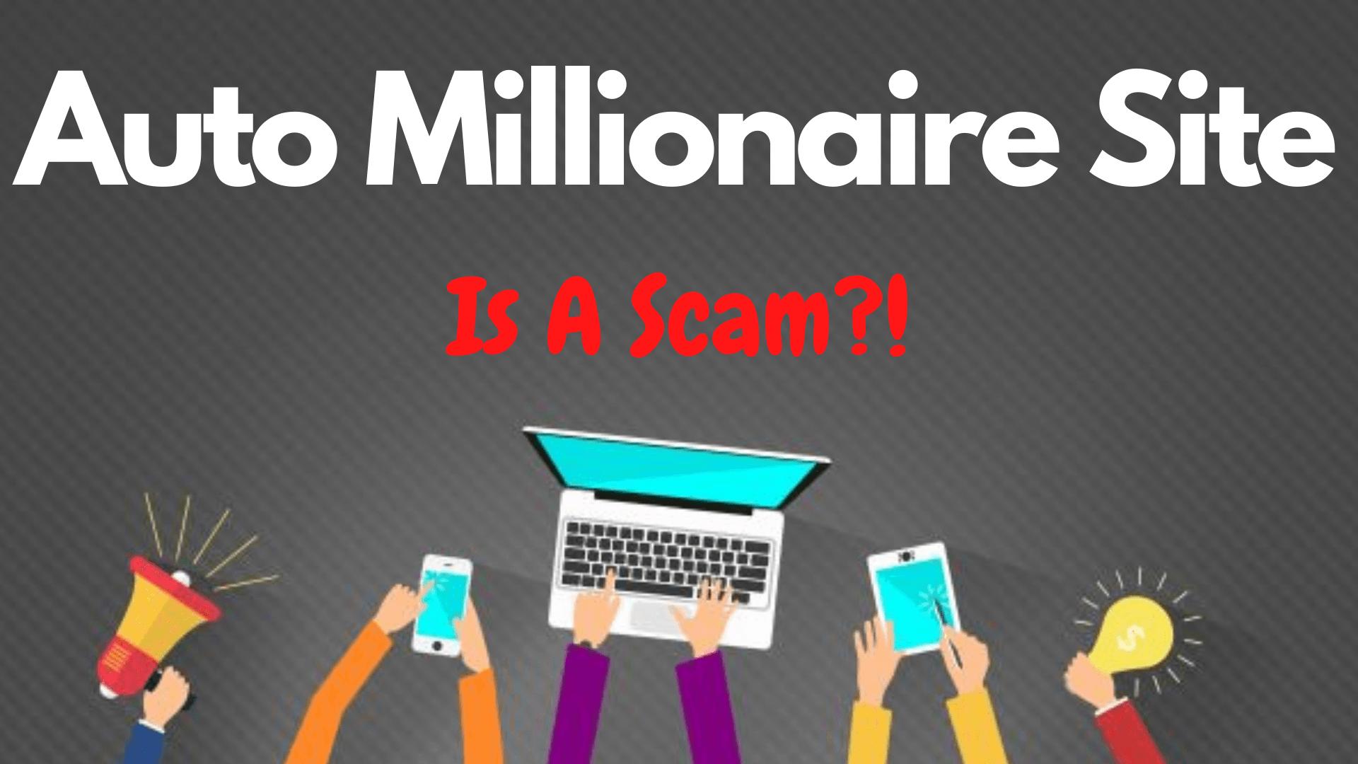 Auto Millionaire Site FrontPage