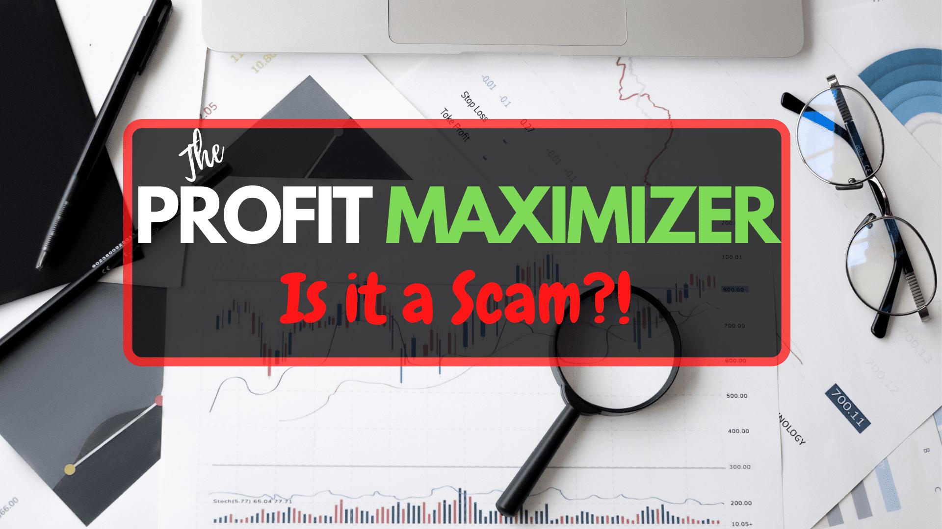 Profit Maximizer FrontPage